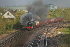 Smoky Scot (Deepgreen2009) Tags: steam uksteam bognorbelle railway royalscot earlswood redhill surrey smoke exhaust 46100