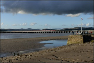 Arnside Viaduct, 45690 Leander 'Cumbrian Coast Express' 30/09/17.