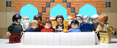 The Last Supper (RagingPhotography) Tags: lego last supper jesus christ god father holy spirit son twelve disciples apostles thaddeus simon peter andrew james john philip bartholomew thomas lesser greater matthew cannanite judas iscariot christianity christian religion religious plastic minifigure figure minifig toy toys recreation ragingphotography