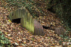 Ruined Anderson shelter rusted and partially buried (Ian Redding) Tags: andersonshelter bath britain british somerset uk wwii worldwar2 worldwartwo bombshelter buried corrugatediron dilapidated history partiallyburied protection ruined rusted rusty steel submerged war