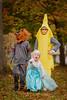 The Banana, Teen Wolf, and Elsa 2.0 (our_little_utopia) Tags: halloween fall autumn children costume banana werewolf elsa frozen