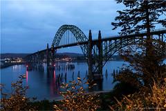 Yaquina Bay Bridge (geoff_sharpe) Tags: yaquina bay bridge twilight night lights newport oregon