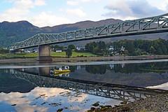 "DSC_1629_edited-1 (cmoncymru) Tags: scotland highlands hiking ""westhighlandway ballachulishbridge ballachulish reflections boat loch lochlinnhe"