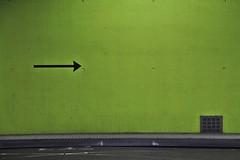 Arrow (just.Luc) Tags: busstation stationdebus bushaltestelle arnhem gelderland groen grün green vert pijl arrow pfeil flèche wall muur mur mauer minimalism minimalisme
