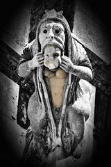 Gargoyles of Batalha, 1 (pedrik) Tags: batalha portugal d7200 afsdxvrnikkor55300mm4556g gimp gmic stone medieval gargoyle grotesque mosteirodabatalha gothic retinex