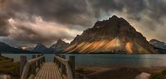 Bow Lake (Ray Jennings AU) Tags: panorama canada bowlake landscape nikond810 nikon2470 stormysky alberta banffnationalpark rayjennings