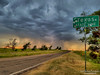Welcome to Texas (LocalOzarkian Photography - Ozarks/ Route 66 Photo) Tags: route66 motherroad texasroute66 oklahomaroute66 oklahoma texas texolaoklahoma storm rain lightning rural