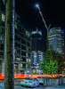 park tower construction at 18 of 43 stories (pbo31) Tags: sanfrancisco california night dark color nikon d810 city urban boury pbo31 october dall 2017 lightstream motion traffic roadway street financialdistrictsouth salesforce construction 181fremont crane panoramic large stitched panorama black folsomstreet mainstreet parktower