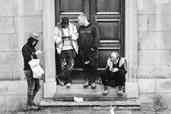 Day 291. Who forgot the keys? (Rob Emes) Tags: church door builders city urban street london g7xii canon bw black mono 3652017 365 oct2017