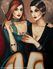 Evening together (100x70cm) (Ekaterina Moré Art) Tags: art kunst ekaterinamore icons magicofbeauty women woman lady fashion foto photo wine redwine bar coffee photoshoot paintings malerei simplybeautiful artgallery artfair painter artiststudio artcollection femininity frau portrat portrait model models fashionphotografie exhibition event