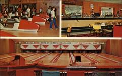 Finger Lake Bowl, New York. (1950sUnlimited) Tags: postcards bowling bowlinglanes bowlingalleys sports leisure vacation roadtrips newyork fingerlakebowl fingerlake midcentury