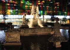 Allumer la fontaine (Lighting the Fountain) (JB by the Sea) Tags: montreal montréal quebec québec canada september2017 urban publicart quartierinternational placejeanpaulriopelle lajoute thejoust modernart statue sculpture fountain palaisdescongrèsdemontréal