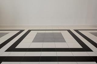 Floor with tiles