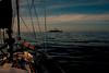 Dawn patrol..... (Dafydd Penguin) Tags: dawn patrol navy ship military silhouette sailing sail yacht yachting sailboat vessel sea water cruising cruise coastal coast sky boating spain cape trafalgar straits gibraltar nikon df nikkor 25mm af f2d