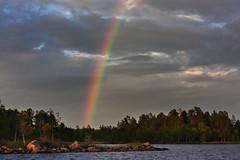 IMG_3405-1 (Andre56154) Tags: schweden sweden sverige wasser water see lake himmel sky wolke cloud landschaft landscape regenbogen rainbow