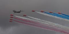 2017_09_0797 (petermit2) Tags: royalairforce raf rafdisplayteam royalairforceaerobaticteam aerobaticteam redarrows baehawkt1 bae hawkt1 hawk bombardiersentinelr1 bombardiersentinel bombardier sentinelr1 sentinel zj691 flypast rafscamptonairshow scamptonairshow rafscampton airshow scampton lincolnshire