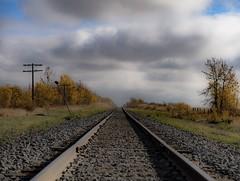 Tracks (wrighteye) Tags: clouds rocks tracks wembley alberta canada canon rails train