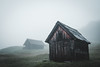 Embrace the autumn (Sunny Herzinger) Tags: eibsee autumn fujixpro2 cottage moody zugspitze hut mist garmisch munich fog germany fall geroldsee bavaria krün bayern de