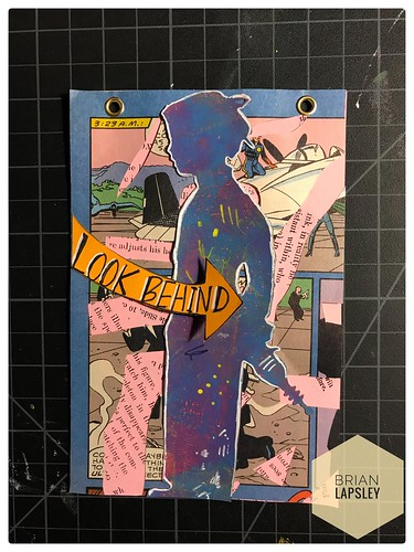 New flip art made up from Comic Books, Collage, Gelli Art & Rubber Stamps #art #rubberstamp #gelliart #collage #handmade