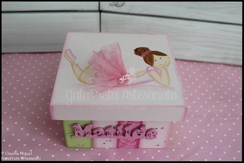 """Caixa de medicamentos e moldura """"Sweet Ballerina"""""""