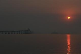 The Richmond San Rafael Bridge on a Hazy Morning