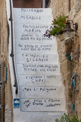 Qui anche le parole odorano di mare... (maresaDOs) Tags: polignanoamare puglia quotes it italy bari fiori scalinata e europa