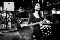 Pause. (Presence Inc) Tags: wideangle night portrait urban mirrorless rx1rm2 cinematic street rx1r life streetphotography photography people 35mm nightlife light nightpeople lowlight layers photograph bangkok candid fullframe dark filmmood everyday zeiss society citylife city sony thailand