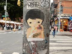 Something good is worth finding (aestheticsofcrisis) Tags: street art urban intervention streetart urbanart guerillaart graffiti postgraffiti new york ny nyc manhattan soho lowereastside phoebenewyork wheatpaste pasteup