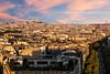 Coucher sur les toits de Paris (Guillaume Chanson) Tags: france îledefrance paris arcdetriomphe sacrécoeur coucherdesoleil sunset canon canoneos5dmarkiii ciel bâtiment architecture ville route arbre