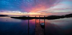 Sunrise Orr's Island - Maine (BernieErnieJr) Tags: orrsisland cascobay atlanticocean maine greatphotographers teamsony bernie duhamel sonya9 sony18105mmg dock boat shore sunrise ocean