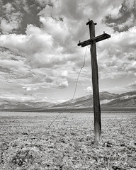 All Lines Are Down (dejavue.us) Tags: d80 california nikon monochrome salt telephonepole salinevalley 1801350mmf3556 mojavedesert blackandwhite nikkor deathvalley