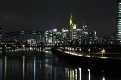 Skyline2 (Mate´s Photos) Tags: skyline frankfurt spiegelungen main ezb nacht langzeitbelichtung