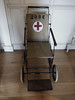 The 1923 Army Wheelchair (Steve Taylor (Photography)) Tags: wheelchair 1923 redcross 2037 army antique brown black red white uk gb england greatbritain unitedkingdom stencil bexley hallplace