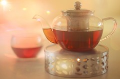 Time for Tea... (KissThePixel) Tags: tea teapot cupoftea englishtea bokeh goldbokeh potoftea potwarmer hottea afternoon autumndays autumn autumncolours autumnlight kitchen kitchenart mykitchen tabletop home cosy nikondf ai ailens 50mm creativeart stilllife stilllifephotography nikkor nikkor12 f12 candle candlewarmer warm