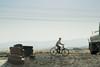 (alexandrabidian1) Tags: sky bicycle ontheroad travel iraq boy