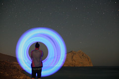 Mr Lonely (dimitris vasiliou) Tags: mr lonely anafi cyclades 2017 diitris vasiliou photography lights minimal colour light painting art