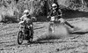 Roosting A BSA (John Kocijanski) Tags: motorcycle hillclimb harleydavidson bsa race sport racer rider vehicles canon70300mmllens canon7d people blackandwhite