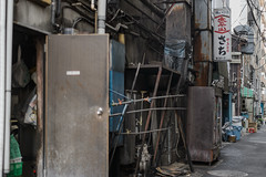 裏通りのさち (kasa51) Tags: alley sign tavern bar yokohama japan rusty ruined dirty