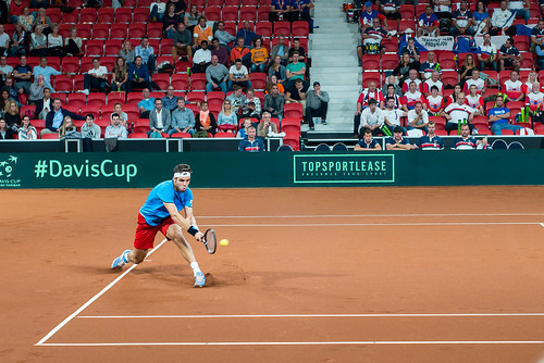 Davis Cup Tennis: Jiri Vesely (CZ)