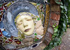 Norton face sculpture 03 oct 17 (Shaun the grime lover) Tags: garden sculpture face mask relief wall walled norton priory runcorn cheshire ivy astmoor