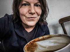 Half-litre latte (Melissa Maples) Tags: stuttgart deutschland germany europe apple iphone iphone6 cameraphone tarteundtörtchen patisserie bakery café me melissa maples selfportrait woman brunette drink food breakfast coffee