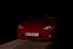 In The Dark 2 - 2004 MX-5 (Blaž Zagorec) Tags: mazda mx5 mx roadster cabrio convertible red black 18 1840 vvt croatia road miata sparco nb nbfl mk2 mk25 nb8 front headlights normally aspirated mazdamiata mazdaroadster drop top eunos engine car cars auto automobile jdm wheels rims 16 sport svt i4 inline four outdoor canon 550d 50mm stm mountains velebit daily dailydriver driver longlivetheroadster mx5club zoomzoom jap carlife rwd mazdaspeed clean lowered coilovers bilstein b14 6speed savethemanuals gripmiata import