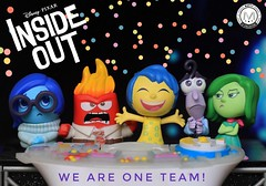 We are One Team! ️‍🌈 (PrinceMatiyo) Tags: insideout disney mysterymini funko pixar fear sadness disgust anger joy