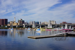 (elalex2009) Tags: cambridge cambridgema water charlesriver river boats sky bridge