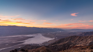 Sunset over the Death Valley