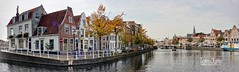 Panorama Binnen Spaarne, Haarlem, Netherlands - 5597 (HereIsTom) Tags: webshots travel europe netherlands holland dutch view nederland views you sony cybershot hx9v nature sun tourists cycle vakantie fietsvakantie cycling holiday bike bicycle fietsen rivier clouds canal city vessels town noord water boot spaarne ships binnen sail river stad harbor haarlem korte history boat sky buildings golden medieval culture age 21 2017 september harlem