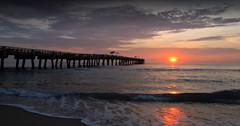 Lake Worth Sunrise (ShacklefordPhotoArt) Tags: ocean beach pier lakeworth florida sunrise sunset nature landscape scenery surf waves atlantic