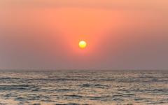Hazy Sunrise Seascape (Merrillie) Tags: daybreak rockshelf sand landscape northavocabeach headland avocabeach sunrise newsouthwales rocks centralcoast nsw earlymornings beach scenery sea rocky dawn seascape nature outdoors waterscape rockplatform coast water australia