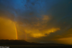 raining rainbows (brian eagar - very busy - not much time to comment) Tags: sky cloud storm sunset sun light rainbow rain atmosphere utah iron landscape sigma2435 sony a7r2 a7rii