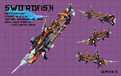 Swordfish (Ninjago Skybound SHIP) (gid617) Tags: lego ninjago ship shiptember skybound swordfish pirates space